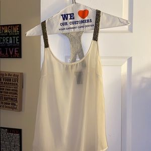 White Tank with Cute Detail!